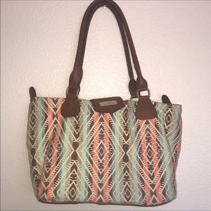 Call it spring Aztec print purse